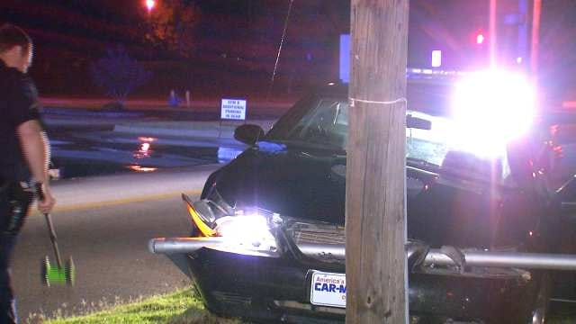 Tulsa Police: Crashed Car Found Abandoned