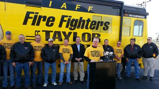 Firefighters Union Kicks Off Bus Tour For Tulsa Mayoral Candidate Kathy Taylor
