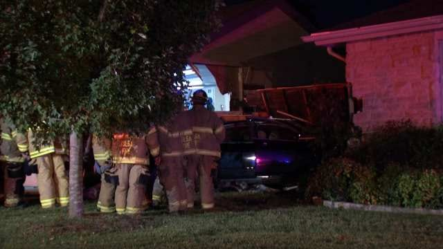 Tulsa Police Arrest Driver On DUI Complaint After Her Car Hits Two Homes