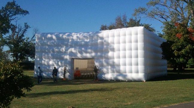 Inflatable Church, Pumpkin Hunt Sunday At Bixby's Washington Irving Park
