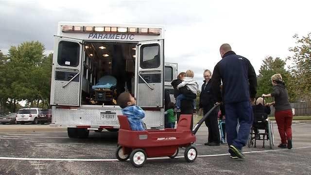 EMSA Medics Visit Tulsa's Little Light House School