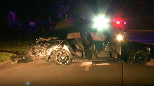 High-Speed Tulsa Chase Ends When Driver Crashes