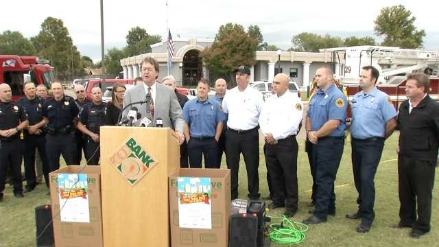 Tulsa City Leaders Kick Off Annual 'Stock The Station' Food Drive