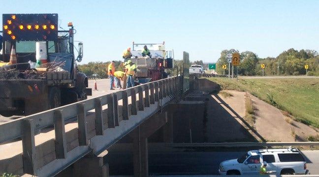 ODOT Repairs Hole In Highway 266 Bridge Over Highway 169