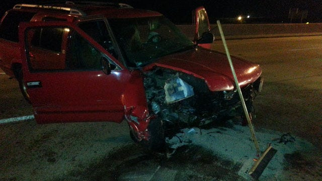 Driver Loses Control, Crashes Into Guard Rail On U.S. 169