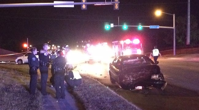 Injury Crash Shuts Down Intersection Of 81st, Delaware In Tulsa
