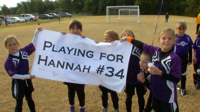 Opposing Soccer Team Honors Youngest Oologah Sister Killed In Car-Train Crash