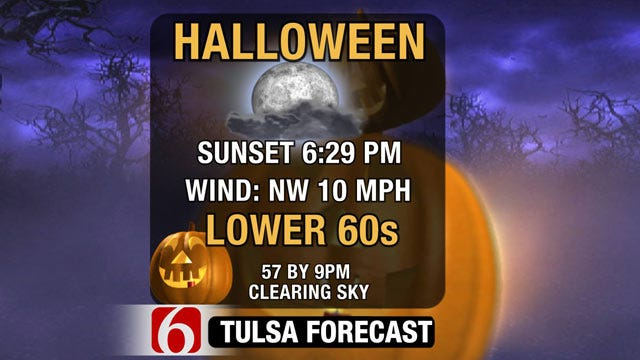 Cooler, Dry Weather Forecast For Halloween