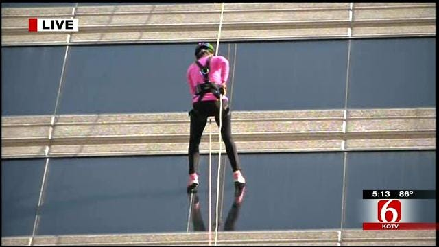 News On 6's Lori Fullbright Goes 'Over The Edge' For Tulsa's United Way