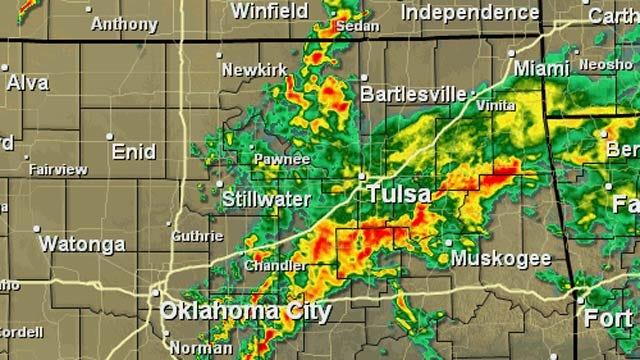 Thunderstorms Roll Across Eastern Oklahoma