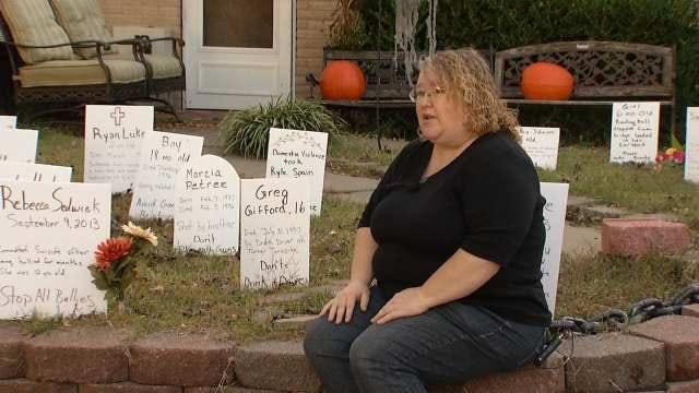 Tulsan's Halloween Decorations Carry Meaningful Message