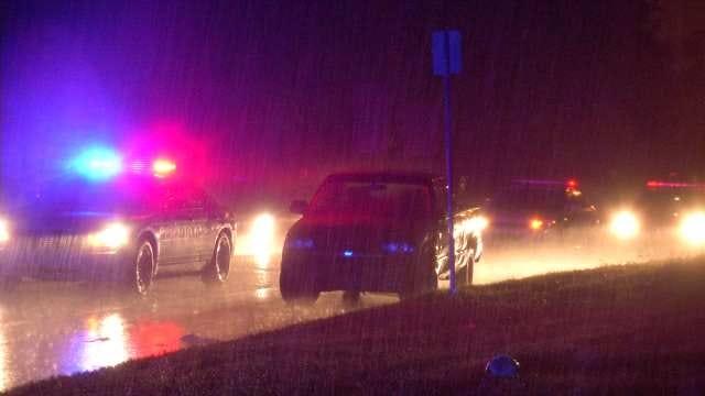 Tulsa Driver Hits Man Crossing Street On Rainy Night