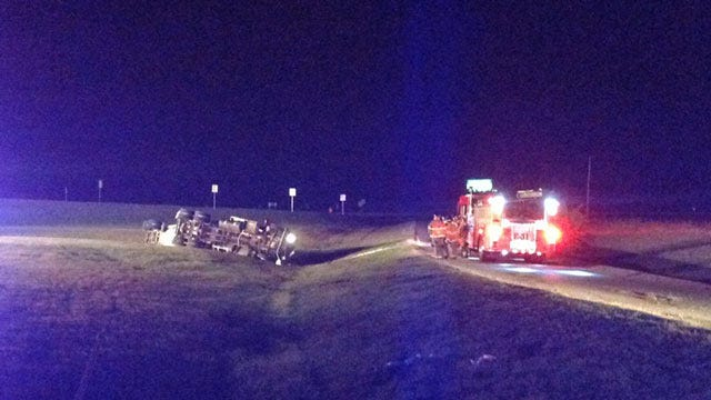 Anhydrous Ammonia Tanker Rolls Over On Highway 169 Ramp