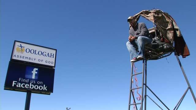 Oologah Pastor Staying 'Up In The Air' To Raise Funds For Missions