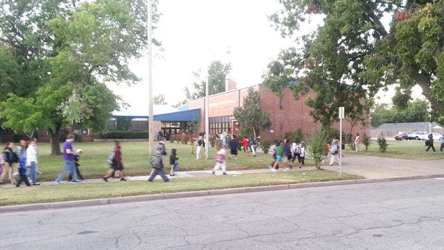 Hundreds Of Tulsa Students Taking Part In Walk To School Event