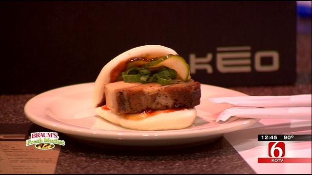 Pork Belly Steamed Buns With Hoisin, Pickles And Scallions