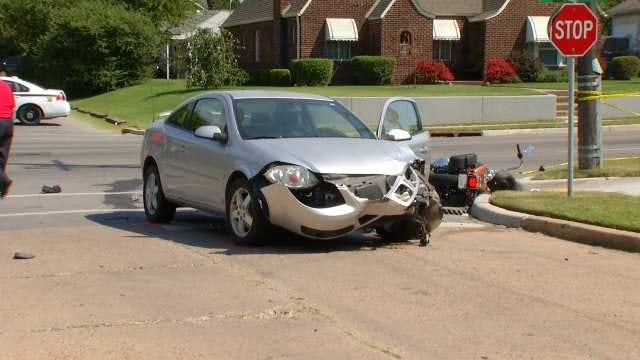 Tulsa Motorcyclist Dies In Collision With Car On Harvard