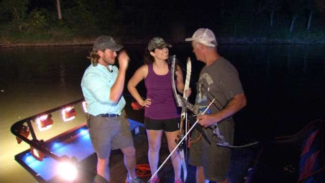 News On 6's Dick Faurot, Lacie Lowry Take On Bow Fishing