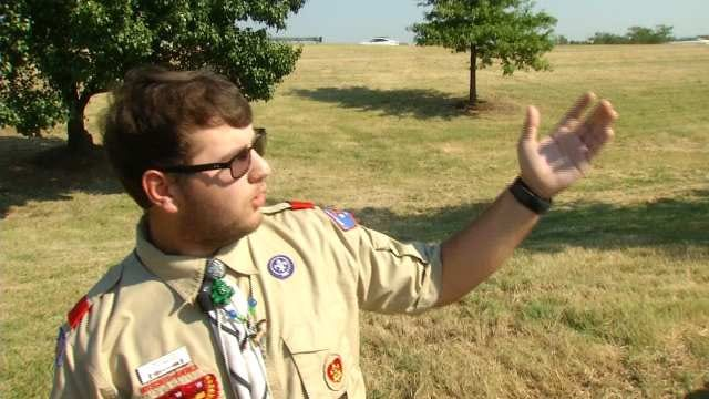 Oklahoma Teen Fixes Up Tulsa 9/11 Memorial As Eagle Scout Project