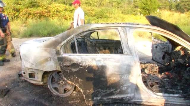 Burning, Abandoned Car Found In Northwest Tulsa