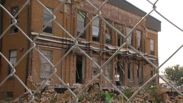 Old Rogers County Courthouse Being Demolished