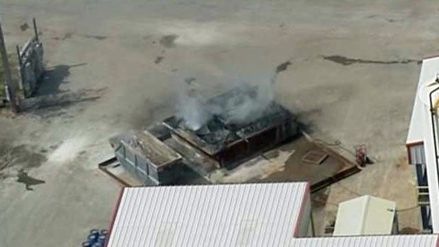 Tulsa Fire Department Responds To Fire At Hazardous Waste Facility