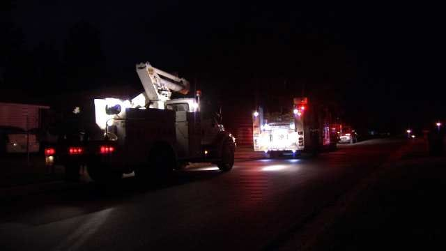 Firefighters Believe Electrical Lines Started Tulsa House Fire