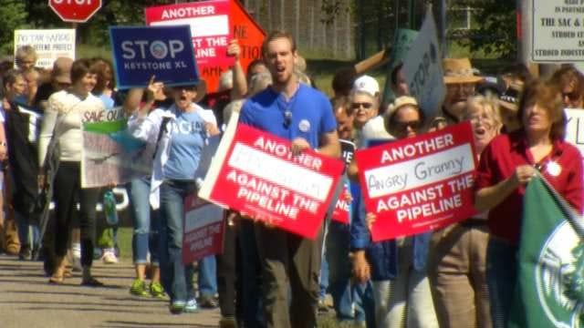Regional Sierra Club Members Protest Keystone XL Pipeline