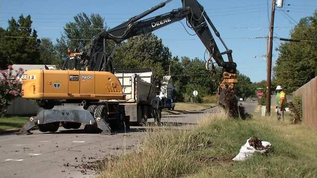 City Of Tulsa Nearly Done With Debris Collection From July Storm