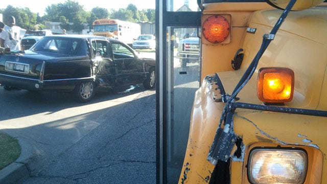 Tulsa Public School Bus Collides With Car, No One Hurt