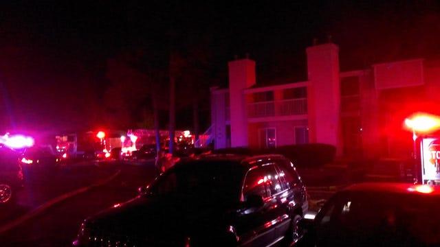 Firefighters Battle Blaze At Broken Arrow Apartment Complex
