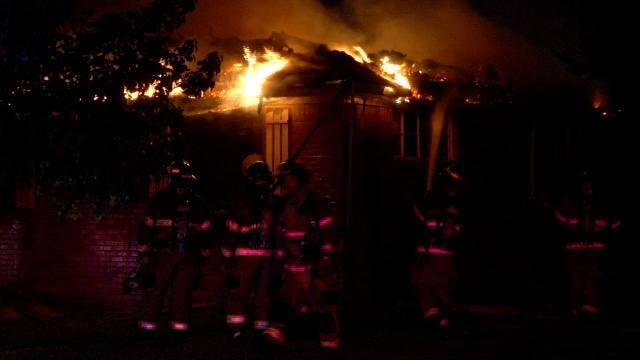 Two-Alarm Fire Damages Tulsa Home