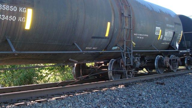 Railroad Car Derails, Closes Highway In Oologah