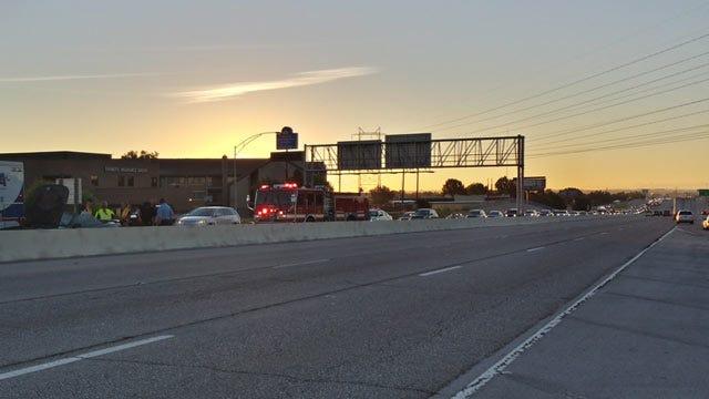 Single-Car Crash Slows Traffic On Tulsa's Broken Arrow Expressway
