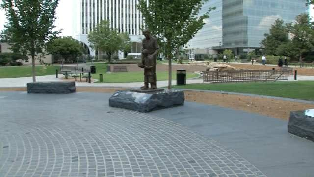 Downtown Tulsa Park Gets New Look, New Name