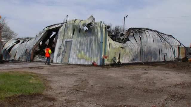 Hazmat Crews Clean Up Site After Tulsa Building Explodes