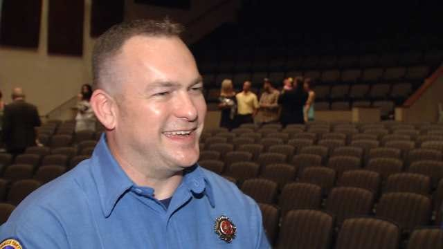 Broken Arrow Father Joins Son, Becomes Newest Firefighter