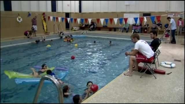 Tulsa School Sends Pool Away With Splash