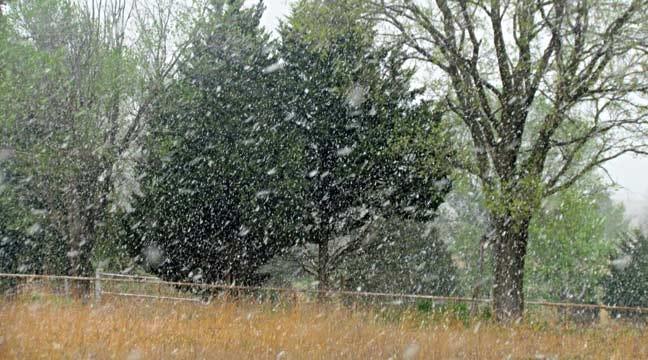 Snow Falls Across Northeast Oklahoma, Southeast Kansas