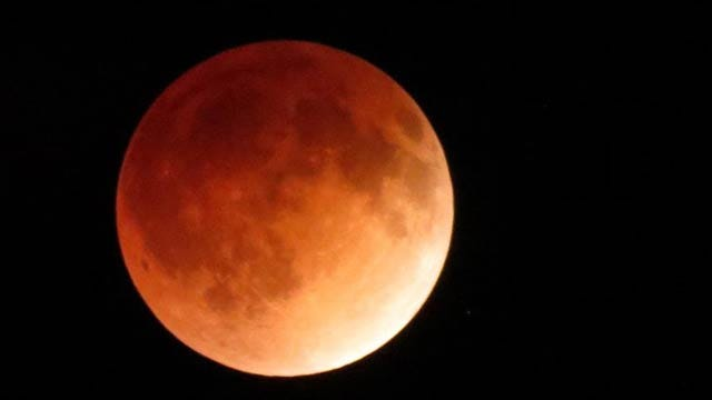 'Blood Moon' Appears Over Eastern Oklahoma