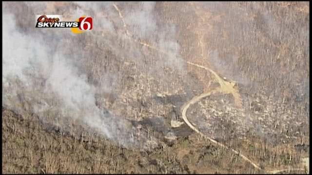 Osage SkyNews 6 Helps Battle Kellyville Wild Fire