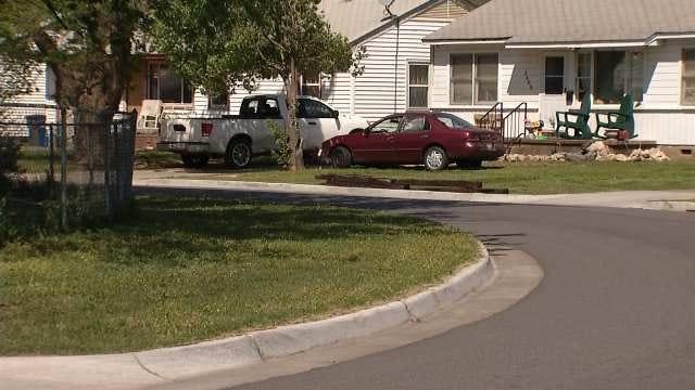 Video Shows Driver Speed In Tulsa Neighborhood, Crash Into Truck