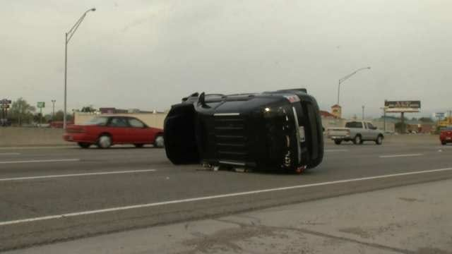 OHP: No One Injured In SUV Crash On I-244 In Tulsa, Rubbernecking Causes Second Crash