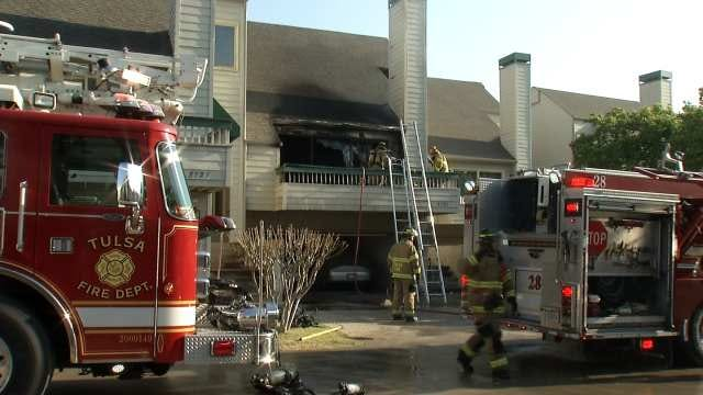 Two Women, Two Firefighters Injured In Tulsa Townhouse Fire
