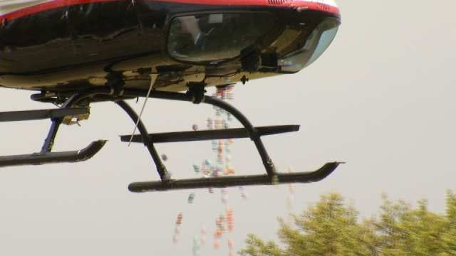 Helicopter Drops Eggs For Sand Springs Children