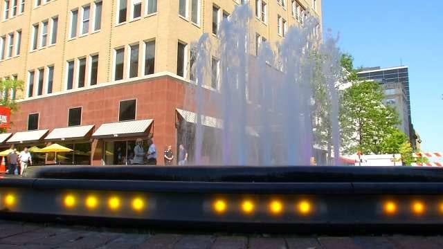 Tulsa Mayor Dedicates Fountain Named After Father