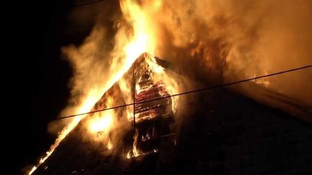 Fire Destroys Vacant Tulsa Church Building