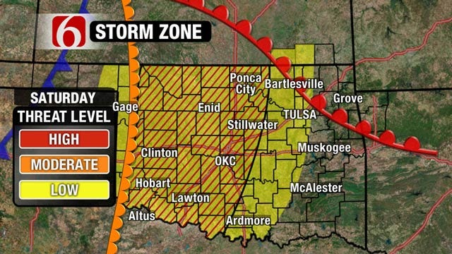 Risk Of Severe Weather In Oklahoma This Weekend