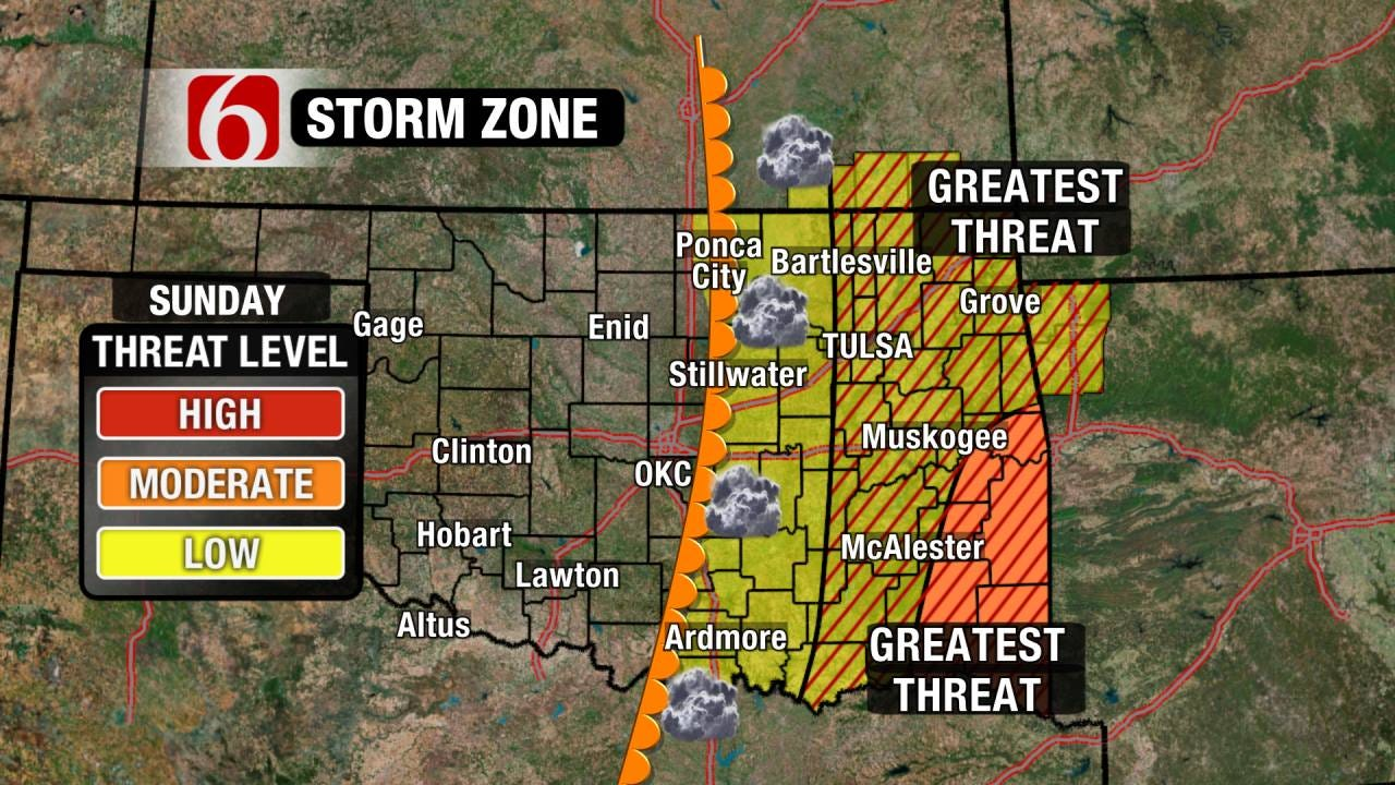 Severe Storms, Few Tornadoes Possible this Weekend