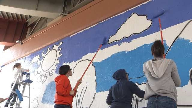 Tulsa Girls Art School Students Paint New Downtown Mural